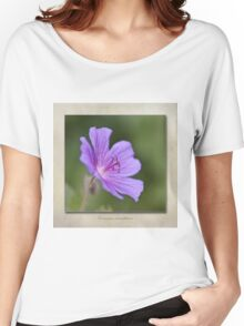 Geranium maculatum Women's Relaxed Fit T-Shirt