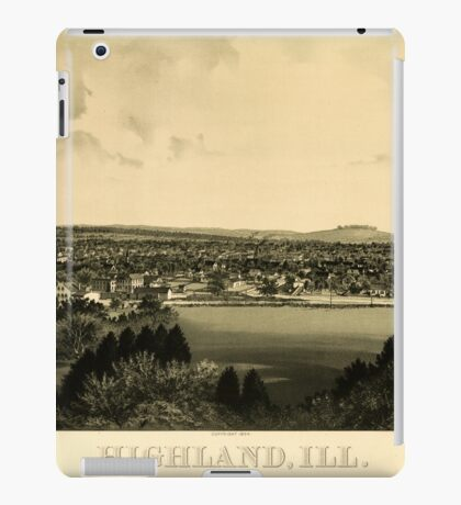 Panoramic Maps Highland Ill iPad Case/Skin