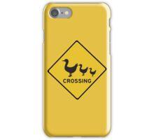 Ducks Crossing, Traffic Warning Sign, Australia iPhone Case/Skin