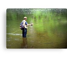 Gone Fishing - The Series #3 - The Art Of Fly Fishing Canvas Print
