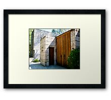 The Millard House by Frank Lloyd Wright Framed Print