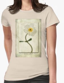 Japanese Anemone Womens Fitted T-Shirt
