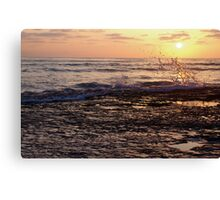 Water Glass Canvas Print