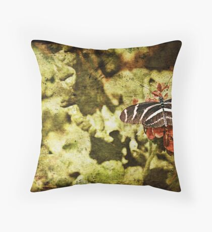 Dark View of Butterfly Throw Pillow