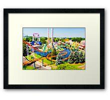 Valley Fair Cork Screw Tilt-Shift Framed Print