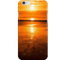sunset and calm reflections at beal beach iPhone Case/Skin