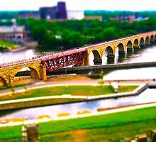 Minneapolis Stone Arch Bridge over Mississippi by CGrossmeier