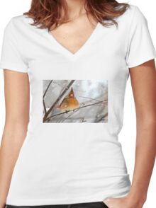 WHAT THE ... ????? Women's Fitted V-Neck T-Shirt