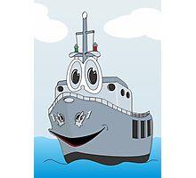 Navy Ship Cartoon Photographic Print