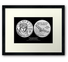 American Eagle Platinum Bullion Coins Print Series IV Framed Print