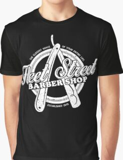 Fleet Street Barber Shop Graphic T-Shirt