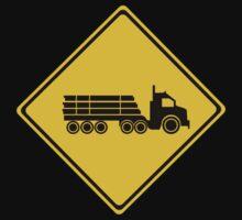 Logging Truck Warning, Traffic Warning Sign, Australia One Piece - Short Sleeve