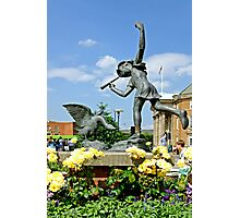 The Boy and the Goose Statue, Derby  Photographic Print