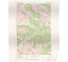 USGS Topo Map Washington State WA Goode Mtn 241354 1963 24000 Poster
