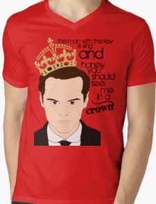 You should see Moriarty in a crown Mens V-Neck T-Shirt