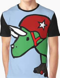 Roller Derby Triceratops Graphic T-Shirt