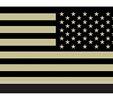 AMERICAN ARMY, Soldier, American Military, Arm Flag, US Military, IR, Infrared, Reflective, USA, Flag, Reverse side flag, on BLACK by TOM HILL - Designer