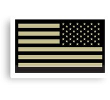 AMERICAN ARMY, Soldier, American Military, Arm Flag, US Military, IR, Infrared, USA, Flag, Reverse side flag, on BLACK Canvas Print