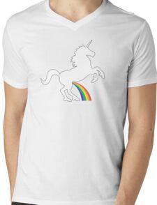 Unicorn Rainbow Pee Mens V-Neck T-Shirt