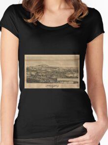Panoramic Maps Blue Hill Maine 1896 Women's Fitted Scoop T-Shirt