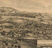 Panoramic Maps Blue Hill Maine 1896 Sticker