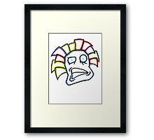Retro Tiki Mask Smirk Framed Print