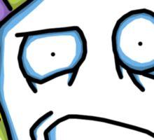 Retro Tiki Mask Smirk Sticker