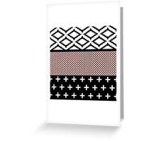 Elegant Pink, White, & Black Modern Geometric Greeting Card
