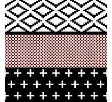 Elegant Pink, White, & Black Modern Geometric Photographic Print
