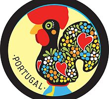 Symbols of Portugal - Rooster by Silvia Neto