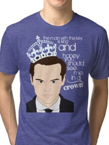 You should see Moriarty in a crown 2 Tri-blend T-Shirt