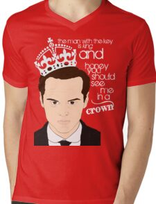 You should see Moriarty in a crown 2 Mens V-Neck T-Shirt