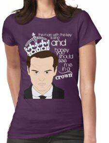 You should see Moriarty in a crown 2 Womens Fitted T-Shirt