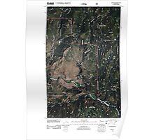 USGS Topo Map Washington State WA Aeneas 20110505 TM Poster