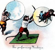Performing Monkeys by Vintage Designs
