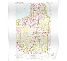 USGS Topo Map Washington State WA Poverty Bay 243265 1961 24000 Poster