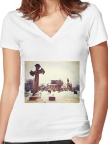 Lambeth Chapel Women's Fitted V-Neck T-Shirt