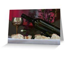 Bread & Wine Greeting Card