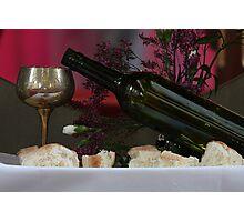 Bread & Wine Photographic Print