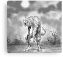 werewolf and wasteland Canvas Print