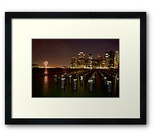 Kiss Of The Night Framed Print