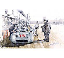 1955 Mercedes Benz W 196 STR Stirling Moss Italian GP Monza Photographic Print