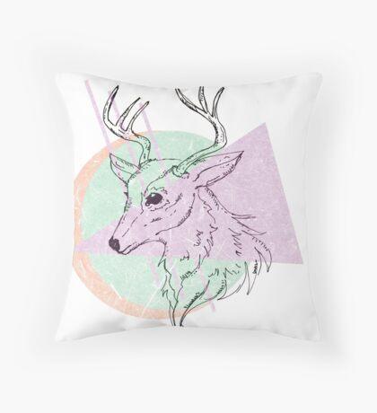 Simplistic Deer Throw Pillow