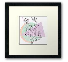 Simplistic Deer Framed Print