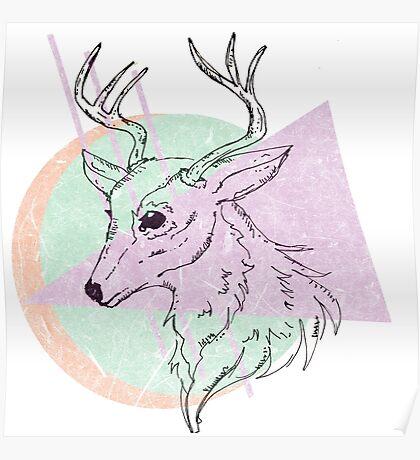 Simplistic Deer Poster