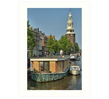 Tower and Canal Art Print