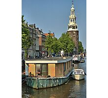 Tower and Canal Photographic Print