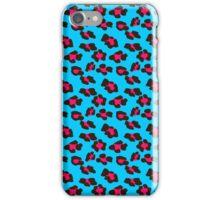 Neon Blue Leopard Print  iPhone Case/Skin