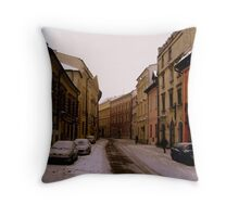 Snowy Krakow Throw Pillow