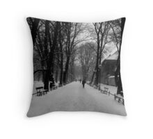 A Layer of Snow Throw Pillow